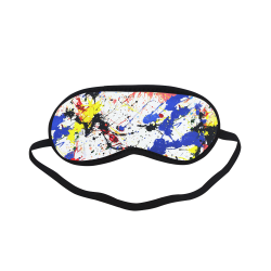 Blue and Red Paint Splatter Sleeping Mask