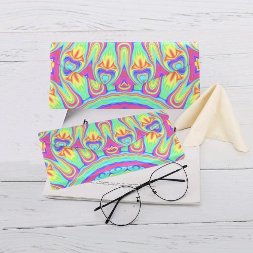 Rainbow Mandala Custom Foldable Glasses Case