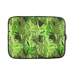 Tropical Jungle Leaves Camouflage Custom Laptop Sleeve 15''