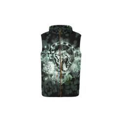 Amazing tigers All Over Print Sleeveless Zip Up Hoodie for Kid (Model H16)