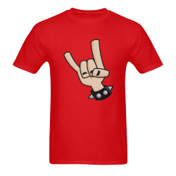 Devil Horns Men's T-Shirt in USA Size (Two Sides Printing)