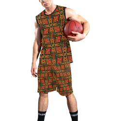 geometric doodle 2 All Over Print Basketball Uniform