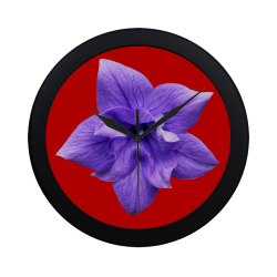 Balloon Flower Circular Plastic Wall clock