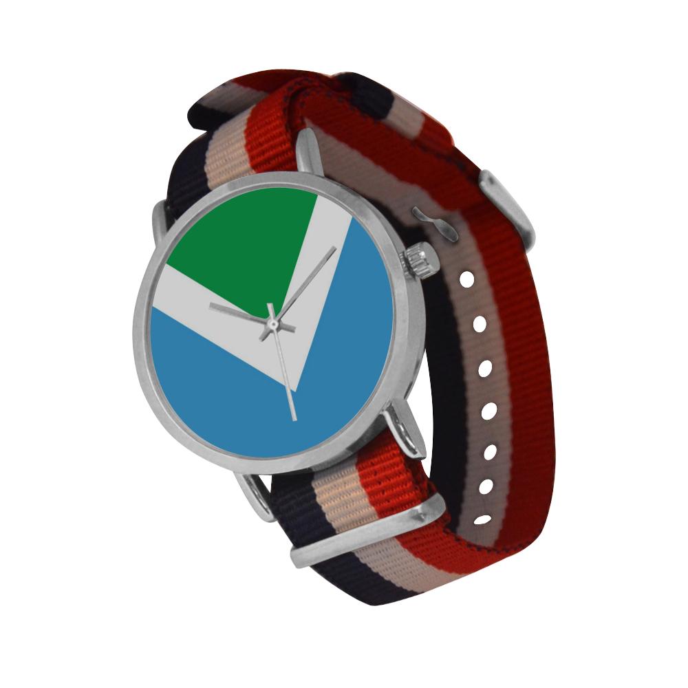Vegan Flag Nylon Strap Watch (Model 215)