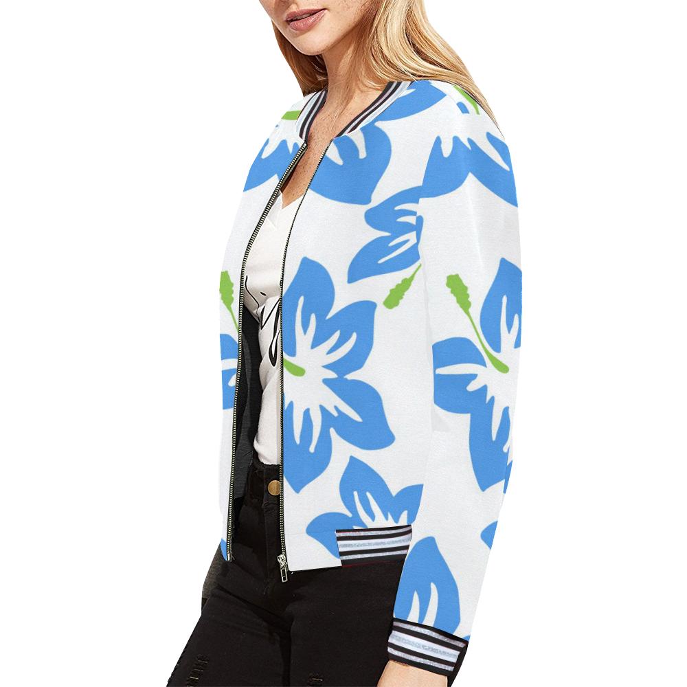 FLORAL DESIGN 34 All Over Print Bomber Jacket for Women (Model H21)