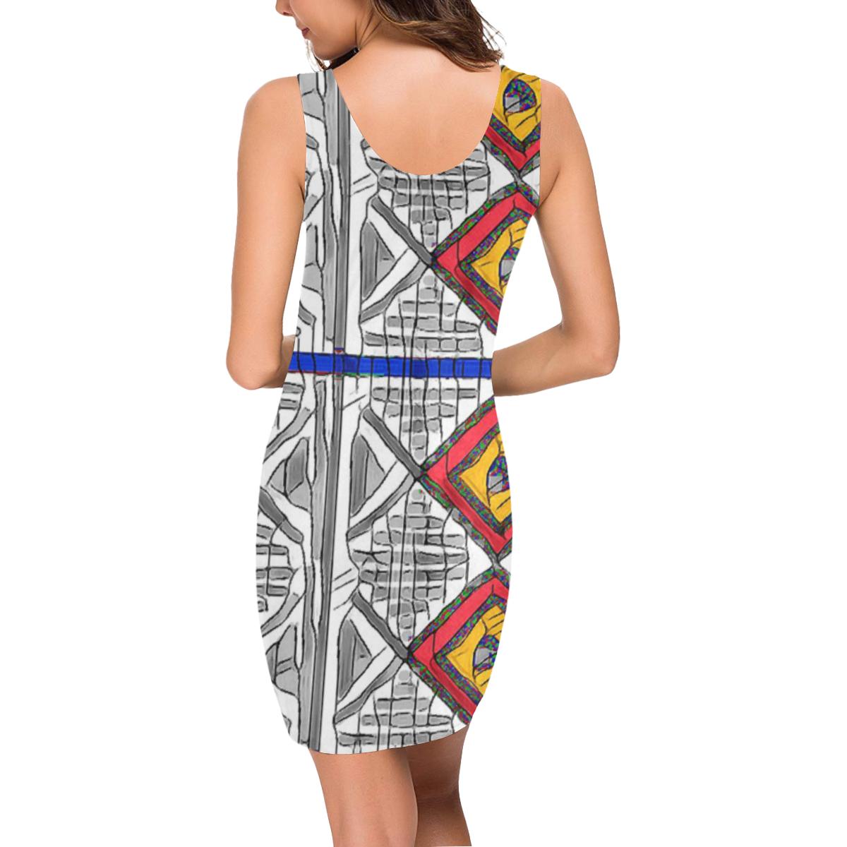Mixed Center3 Medea Vest Dress (Model D06)