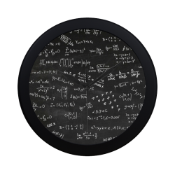 Mathematics Formulas Equations Numbers Circular Plastic Wall clock