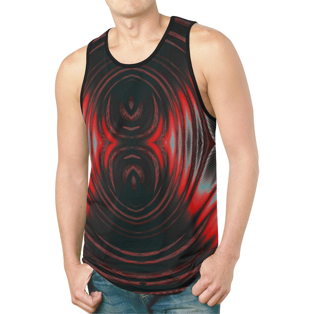 5000TRYtwo2 106 dEEP mONSTER  8 25 A sml New All Over Print Tank Top for Men (Model T46)