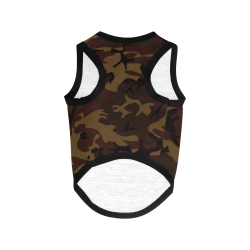 Camo Dark Brown All Over Print Pet Tank Top