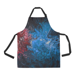 Alien Swirl Blue Red Apron. All Over Print Apron