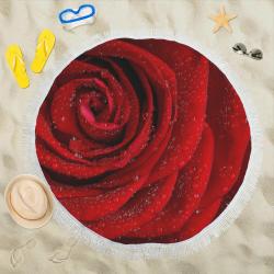 """Red rosa Circular Beach Shawl 59""""x 59"""""""