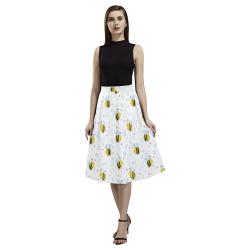 Cute Bee Pattern Aoede Crepe Skirt (Model D16)