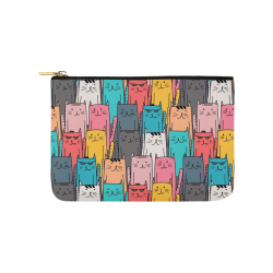 Cartoon Cat Pattern Carry-All Pouch 9.5''x6''