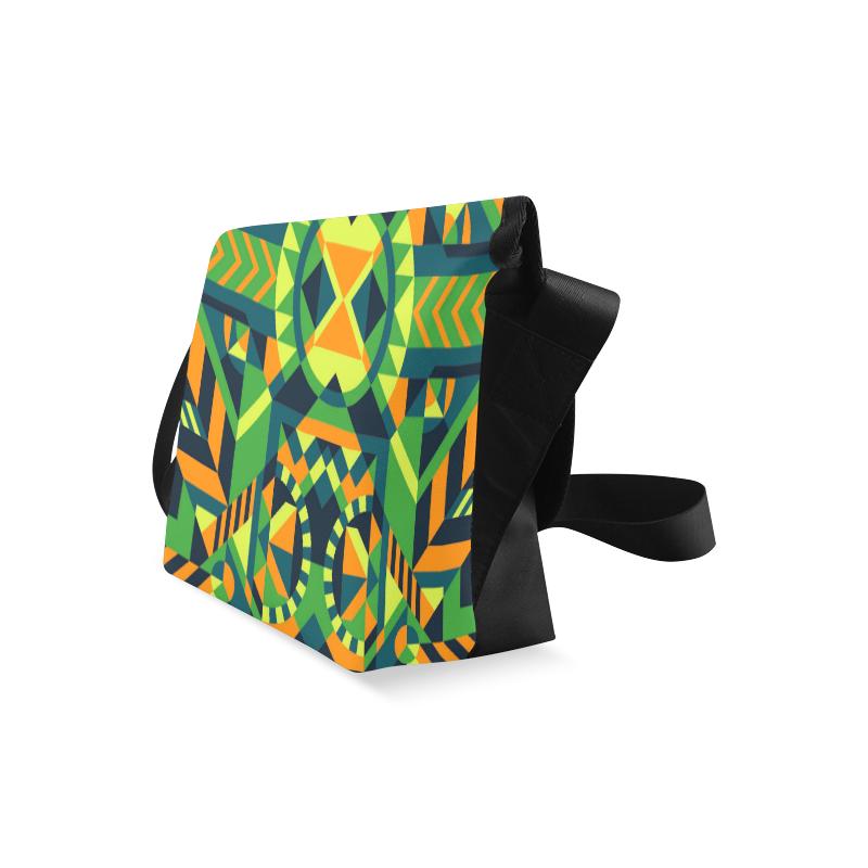Modern Geometric Pattern Crossbody Bag (Model 1631)
