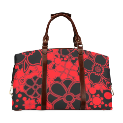 FLORAL DESIGN 46 Classic Travel Bag (Model 1643) Remake