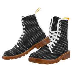 Polka Dot Pin Black by Jera Nour Martin Boots For Men Model 1203H