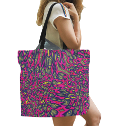70s chic 1 All Over Print Canvas Tote Bag/Large (Model 1699)