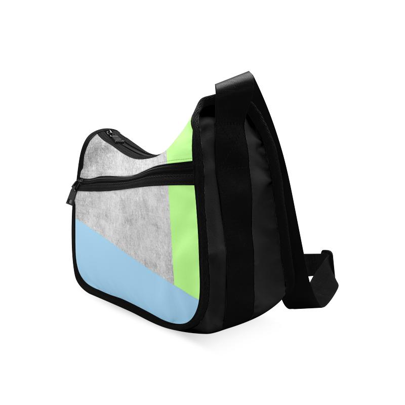 concrete 2 green blue Crossbody Bags (Model 1616)