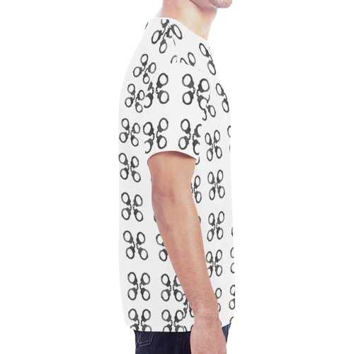 handcuffs New All Over Print T-shirt for Men (Model T45)