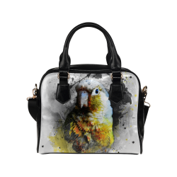 bird parrot art #parrot #bird Shoulder Handbag (Model 1634)