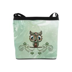 Cute little owl, diamonds Crossbody Bags (Model 1613)