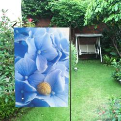 Snail & Hydrangea Garden Flag 12''x18''(Without Flagpole)