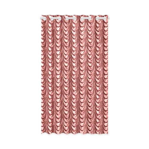 """Burgundy fold waves New Window Curtain 52"""" x 84""""(One Piece)"""