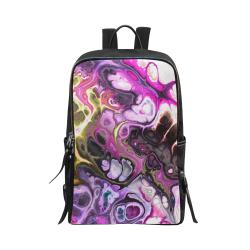 Colorful Marble Design Unisex Slim Backpack (Model 1664)