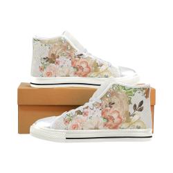 Sweet Flower Shoes, Pumpkin Women's Classic High Top Canvas Shoes (Model 017)