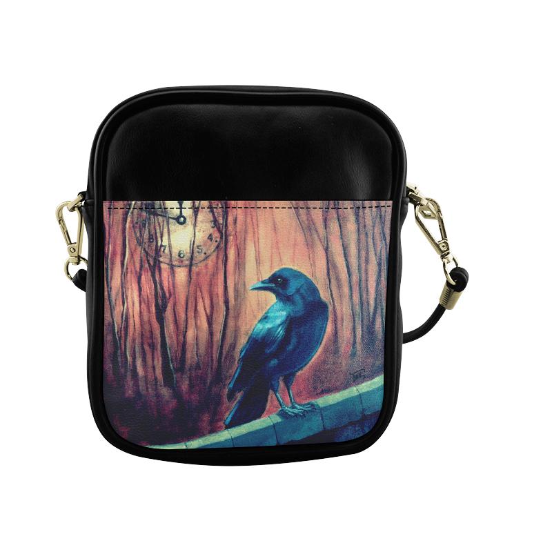 Nearing Midnight Crow Sling Bag (Model 1627)