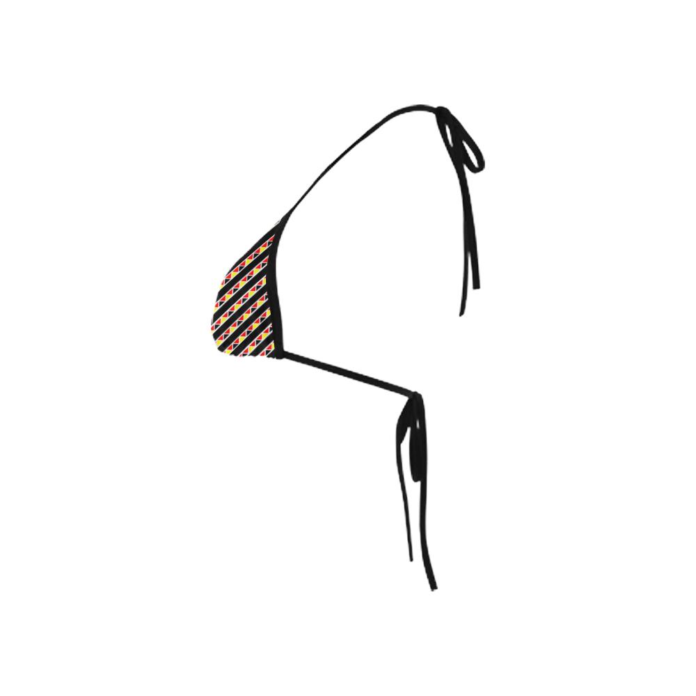 Kente Stripes Custom Bikini Swimsuit Top