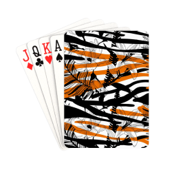 "Floral Tiger Print Playing Cards 2.5""x3.5"""