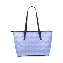Winter Chevrons Leather Tote Bag/Large (Model 1640)