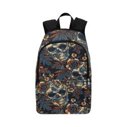 Woke Skulls Festival Gothic Fabric Backpack for Adult (Model 1659)