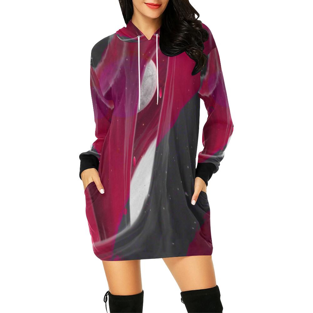 2560x1600 1 All Over Print Hoodie Mini Dress (Model H27)