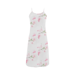Pattern Orchidées Alcestis Slip Dress (Model D05)