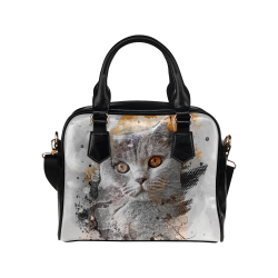 cat kitty art #cat #kitty Shoulder Handbag (Model 1634)
