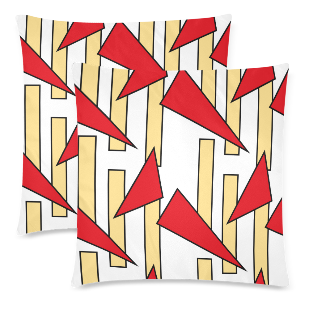 """Abstract pattern geometric backgrounds Custom Zippered Pillow Cases 18""""x 18"""" (Twin Sides) (Set of 2)"""