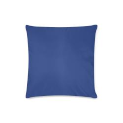 "Porcelain Blue Custom Zippered Pillow Case 16""x16""(Twin Sides)"
