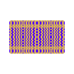 "Purple Yellow Modern  Waves Lines Doormat 30""x18"""