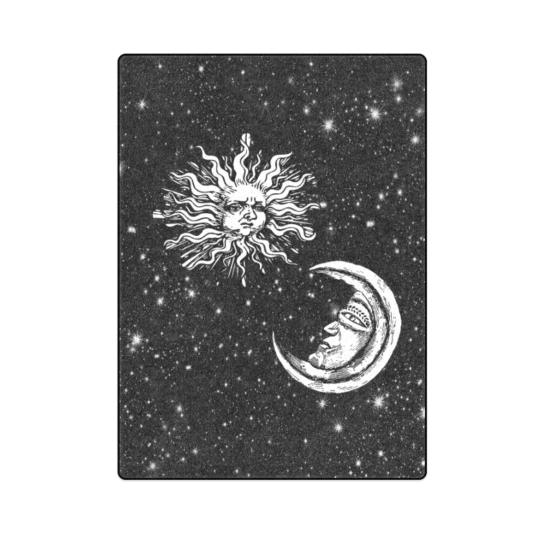 "Mystic Moon and Sun Blanket 58""x80"""
