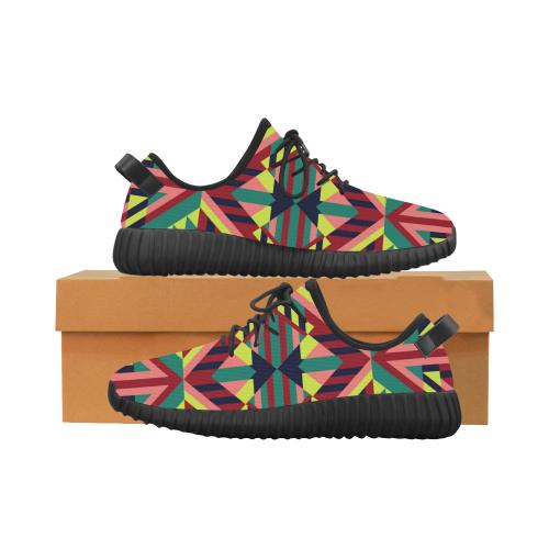 Modern Geometric Pattern Grus Men's Breathable Woven Running Shoes (Model 022)