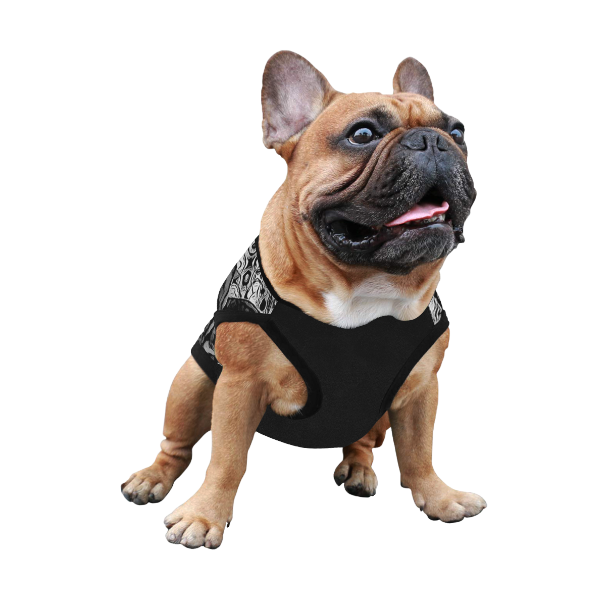 FRENCH BULLDOG ART BLACK AND WHITE II All Over Print Pet Tank Top