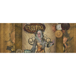 """Steampunk lady with owl Gift Wrapping Paper 58""""x 23"""" (1 Roll)"""