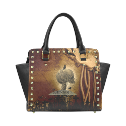Mechanical skull Rivet Shoulder Handbag (Model 1645)