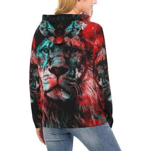 lion jbjart #lion All Over Print Hoodie for Women (USA Size) (Model H13)