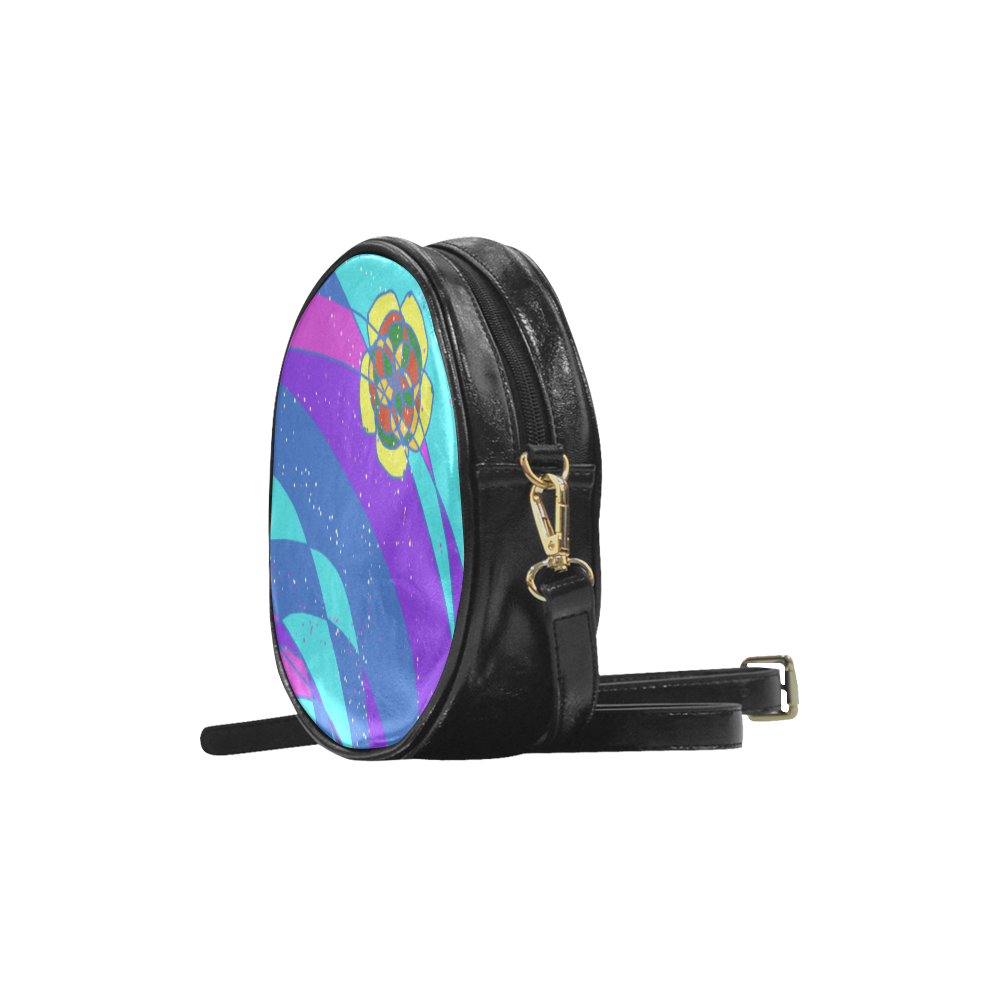 Swirl Design Round Sling Bag (Model 1647)