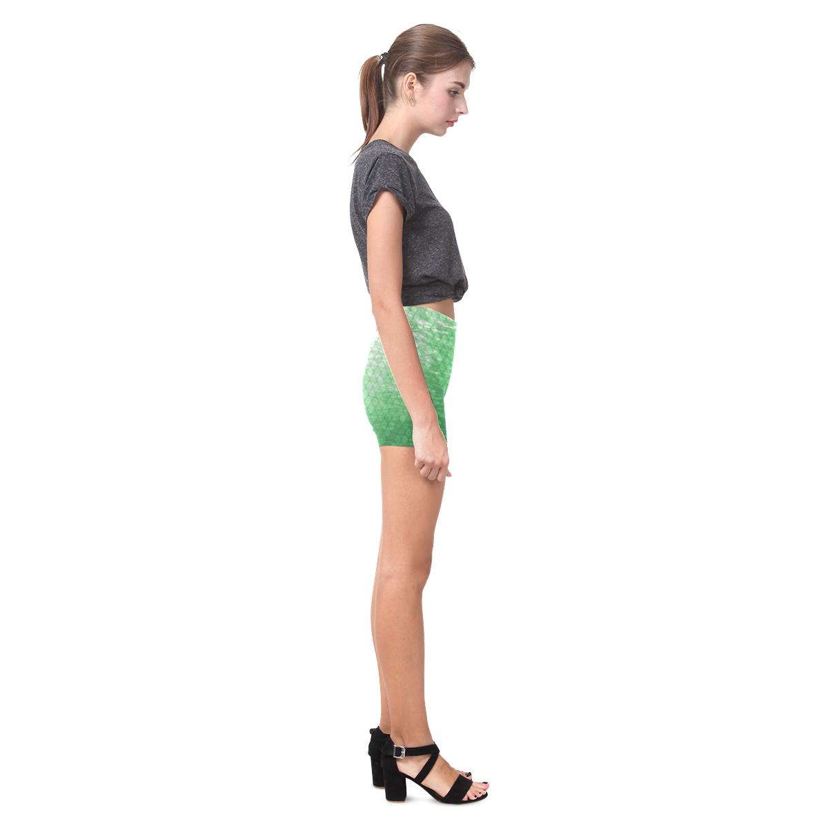 Snakeskin Lake Green Briseis Skinny Shorts (Model L04)
