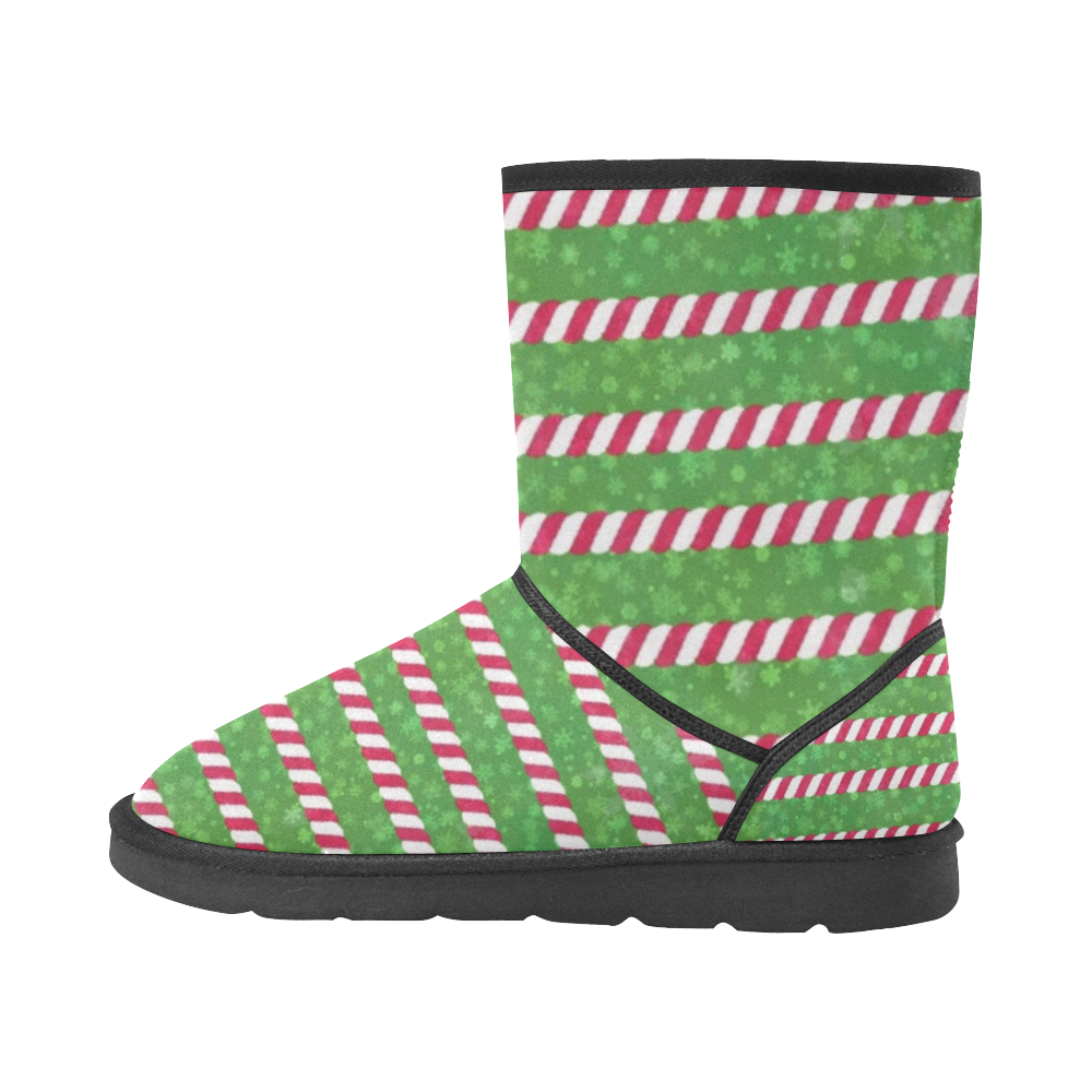 Ugly Christmas by Nico Bielow Custom High Top Unisex Snow Boots (Model 047)