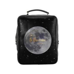 TO THE MOON AND BACK Square Backpack (Model 1618)
